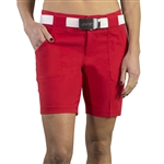 JoFit Belted Golf Short Lipstick Red