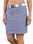 JoFit Belted Golf Skort - Birch Pinstripe