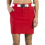 JoFit Belted Golf Skort - Lipstick Red