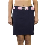 "JoFit Belted 19"" Midnight Golf Skort"