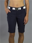 "JoFit Belted 12"" Midnight Bermuda Golf Short"
