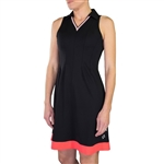 JoFit Varsity Golf Dress- Black/White/Calypso