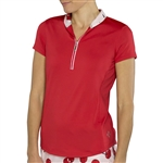 JoFit Tapered Collar Polo - Lipstick