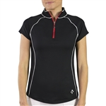Jofit Short Sleeve Raglan Mock - Black