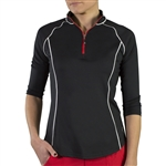 Jofit 3/4 Sleeve Mock - Black