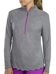 JoFit Scallop Long Sleeve Graphite Mock