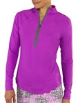JoFit Scallop Long Sleeve Lotus Mock