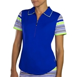 JoFit Short Sleeve Tipped Polo - Blueberry