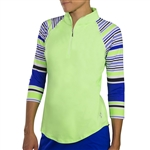 JoFit 3/4 Sleeve Raglan Mock - Honeydew