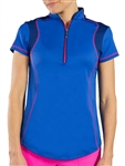 Jofit Oracle Golf Top - Electric Blue