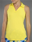 JoFit Tech Cut Away Sleeveless Polo - Vibrant Yellow