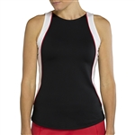 JoFit Ace Tennis Tank - Black/White