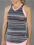 JoFit Racerback Match Point Aurora Stripe Tank