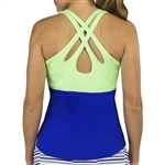 JoFit Loop Back Tank - Blueberry/Honeydew