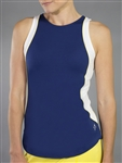 JoFit Ace Tennis Tank - Blue Depth/Yellow