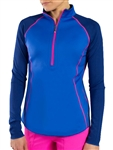 JoFit Reversible Long Sleeve Raglan Top - Electric Blue
