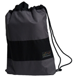 Greg Norman Golf Drawstring Shoe Bag - Core Black