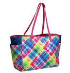 Glove It Electric Plaid Sport Tote