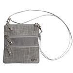 Glove It Silver Lining 3-Zip Cross Body Bag