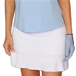 Golftini Tech Pull On Skort - White