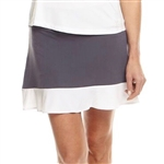 Golftini Tech Pull On Golf Skort - Grey/White