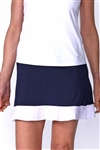 Golftini GT Tech Pull On Ambitious Golf Skort Navy/White