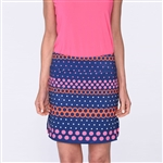 Golftini Best Ball Polka Dot Tech Pull On Golf Skort