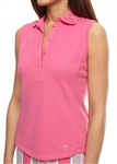 Golftini Sleeveless Eyelet Hot Pink Polo