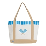 Ame & Lulu Ticking Stripe Tennis Lovers Tote