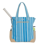 Ame & Lulu Ticking Stripe Tennis Tote