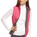 Golftini Quilted Wind Vest - Grey/Pink