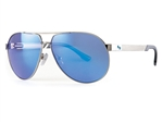 Sundog Uptown Polycarbonate Lens Sunglasses - Smoke/Ice Blue