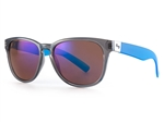 Sundog Freestyle Polycarbonate Lens Sunglasses - Brown/Crystal/Blue