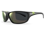 Sundog Dash Polycarbonate Lens Sunglasses - Black/Lime