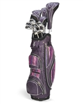 Nancy Lopez Black Purple Tiger Golf Club Set