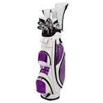 Nancy Lopez Ashley White/Purple Golf Clubs & Bag