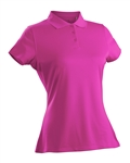 Nancy Lopez Luster Hot Pink Short Sleeve Polo