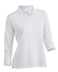 Nancy Lopez Luster 3/4 White Sleeve Polo