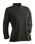 Nancy Lopez Luster 3/4 Black Sleeve Polo