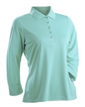 Nancy Lopez Luster Aqua 3/4 Sleeve Polo