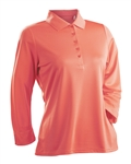 Nancy Lopez Luster Tangerine 3/4 Sleeve Polo