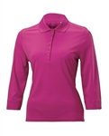 Nancy Lopez Luster 3/4 Sleeve Polos