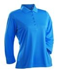 Nancy Lopez Luster Blue Bird 3/4 Sleeve Polo