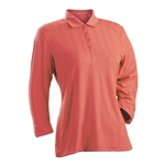 Nancy Lopez Grace Tangerine 3/4 Sleeve Polo