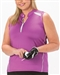 Nancy Lopez Sporty Hot Pink/White Sleeveless Polo