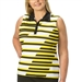 Nancy Lopez Gear Black/Amber Sleeveless Golf Polo
