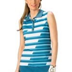 Nancy Lopez Gear Indigo/Blue Sleeveless Golf Polo