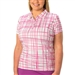 Nancy Lopez Scribble Hot Pink Short Sleeve Polo