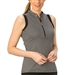 Nancy Lopez Geo Black Sleeveless Golf Polo