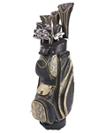 Nancy Lopez Zenith Black/Gold Golf Clubs & Bag